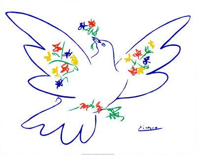 p201paloma-de-la-paz-azul-posters