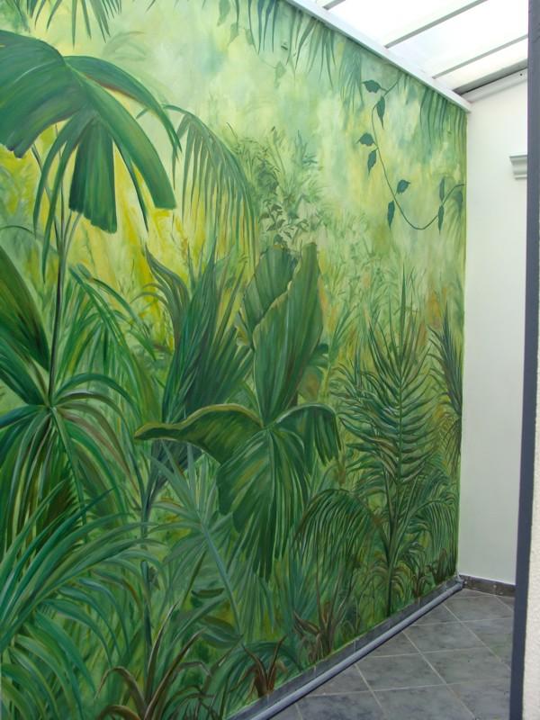 Trompe l oeil olivia castro cranwell for Como pintar un mural