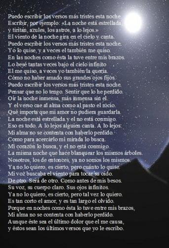 Puedo Escribir Los Versos Más Tristes Esta Noche Olivia